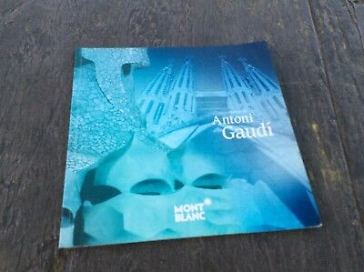 Montblanc Antoni Gaudi Dealer Brochure Booklet Documents