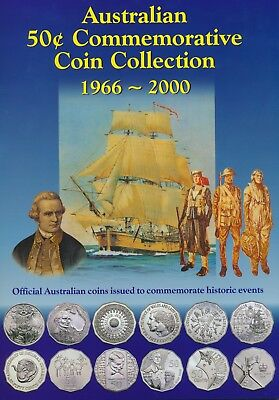 Australia 50 Cents 50c Collection Silver 1966  - 2000 Sherwood Pack UNC