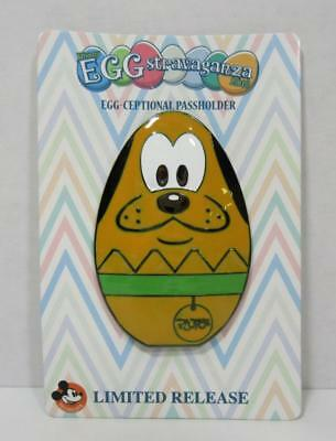 NEW Disney Parks PLUTO EPCOT Eggstravaganza Passholder Exclusive LR Pin