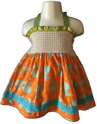 Persnickety Size 3 Girl's Betsy Pear Print Halter Top