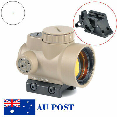 Tactical Red Dot Sight With High/Low QD Mount 2.0 MOA Reflex Style 1X25 MRO Tan