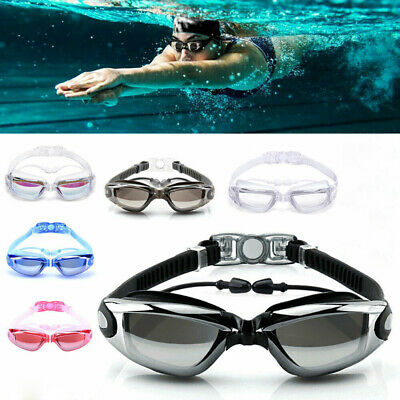 Anti Fog Swimming Goggles with Earbud for Men Women Boys Girls Adult Junior Kid