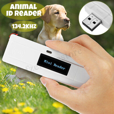 RFID 134.2Khz ISO FDX-B Animal Chip Dog ID Reader Microchip Handheld Pet  UK