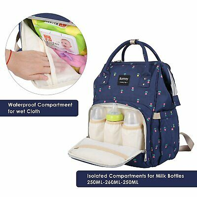 Waterproof Mummy Nappy Diaper Bag Baby Travel Bags Changing Nursing Backpack UK
