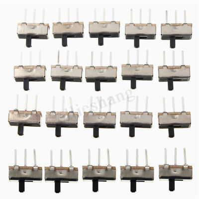 20 Pcs SS12D00G3 2 Position SPDT 1P2T 3 Pin PCB Panel Mini Vertical Slide