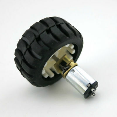 HOT N20 Micro Gear Motor with Rubber Wheels 6V For Smart Toy Car Accessory