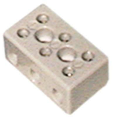 Porcelain Terminal 3-pin 30a Width 30mm Height 23mm Length 52mm Hole Distance