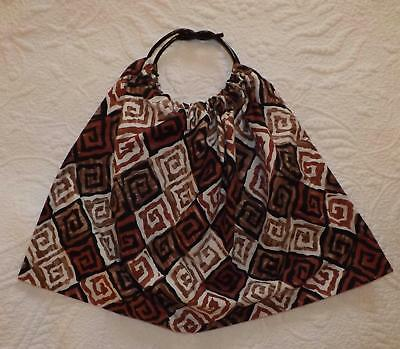 Vintage 1950s Cotton Tote Shopping Bag Purse Funky Handles Hand Made GOODWOOD