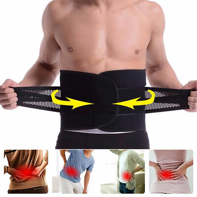 Lower Back Support Pain Relief Belt Lumbar Brace Strap Posture Waist Trimmer NEW