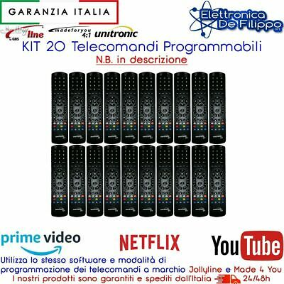 KIT 20 Telecomandi Universali Programmabili Made for you 4:1 JollyLine