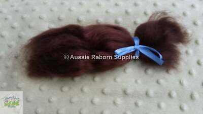 Brown Mohair for Reborn Baby Dolls 15gm ( Half Oz )