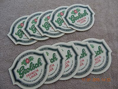 Grolsch Premium Lager Beer Coasters From Holland, Lot Of 10.
