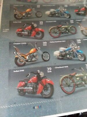 2005 USPS American Motorcycles Sheet of 20  Postage 39 cent  Harley &Indian