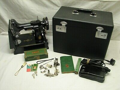 Singer Featherweight Quilting Sewing Machine 1950 221 Portable Case Anniversary