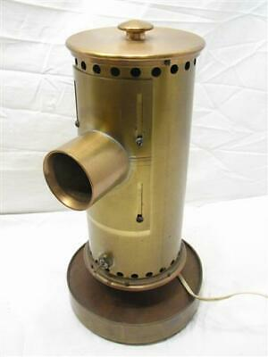 Unusual Heavy Brass Projector Spot Lamp Light Projections Cylinder Odd Hand Made