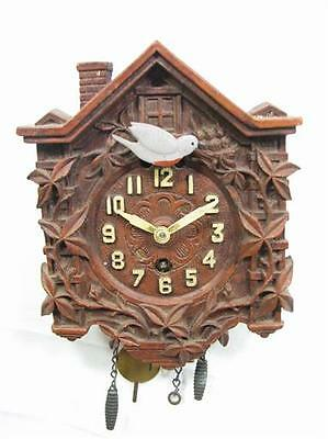 Vintage Black Forest Waterbury Mini Cuckoo Clock Lux