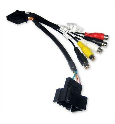 Audio Video AV Input Lead Cable Adapter for BMW 3 5 X5 E46, E39, E53 with Navi