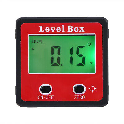 LCD Digital Inclinometer Spirit Level Box Protractor Angle Finder Gauge Meter
