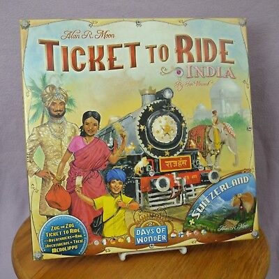 Days Of Wonder Ticket To Ride India Board Game and Switzerland COMPLETE