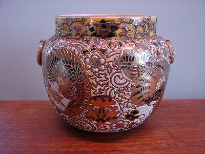 Antique JAPANESE IMARI PORCELAIN CACHEPOT / VASE - Very Detailed!!