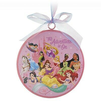 Disney Parks Princess The Adventure Is On Christmas Disk Ornament New
