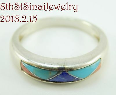 a52863617 Carolyn Pollack Sterling Silver 925 MultiGem Inlay (#1) Stack Band Ring  Size 8