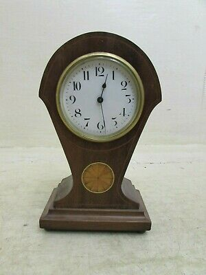 Edwardian Mahogany Inlaid Balloon Mantle Clock, Duverdrey & Bloquel, Running