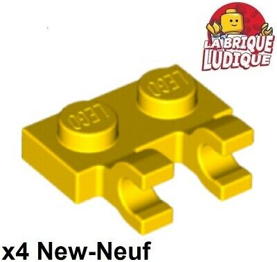 4x Plate Modified 1x1 jaune transparent trans yellow 3024 NEUF Lego