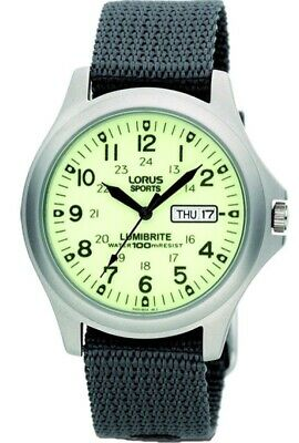 Lorus Gents Lumibrite Military Style Watch - RXF41AX7 LNP