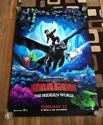 Posters How To Train Your Dragon The Hidden World Original 27x40 Poster Entertainment Memorabilia Posters