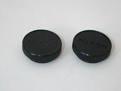 Pair of Nikon Microscope turret dust caps, RMS objective thread size.