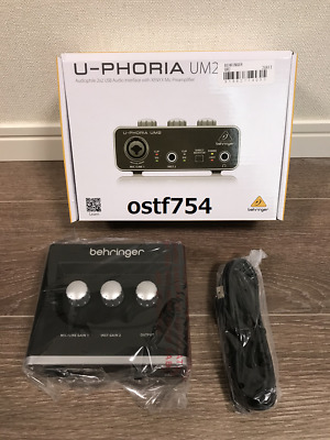 BEHRINGER USB Audio Interface U-PHORIA UM2 For Guitar / Bass Mac Windows NEW sh