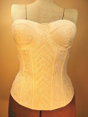 Charlotte Russe WOMEN CLOTHING Blouse NWT Pearl White Flexible Sexy CORSET Style