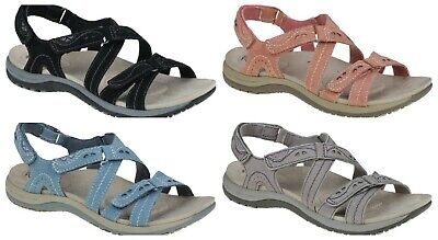 Earth Spirit Riverton Leather Ladies Touch Fast Strappy Comfort Sandals