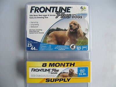Merial Frontline Plus Flea and Tick Control for Dogs 23-44 lbs 8 Applicators