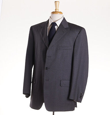 NWT $1495 LUCIANO BARBERA Medium Charcoal Gray Wool Suit 44 S (Eu 54) Modern-Fit