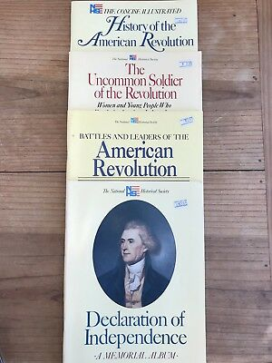 History of the American Revolution Declaration of Independence Soldier Lot Of 4