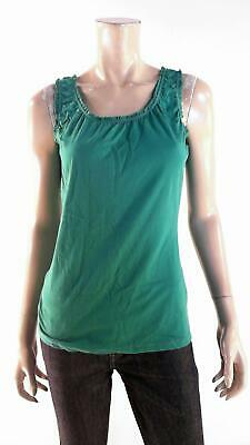 433d900ca31bb Merona Womens size S Soft Cami Tank Top Pull Over Scoop Neck Ruched Solid  Green