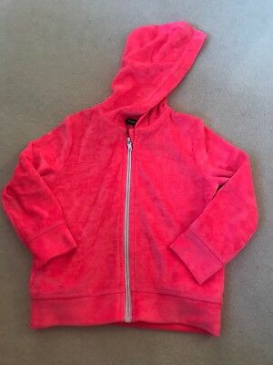 George Baby Girls Zip Up Hoodie Age 18-24 Months Ref Ee5
