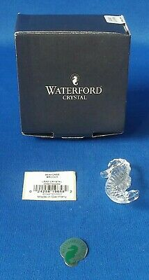 """Waterford Crystal Seahorse Brooch 1 3/4"""" High - FREE SHIPPING"""