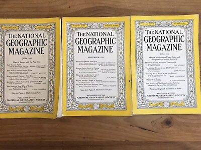 Lot of National Geographic Magazines Vintage June 1949 And 1950 September 1949