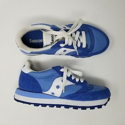 finest selection 49a26 54c82 Women s Saucony Jazz Running Shoes Size 5 Blue White Low Pro Retro