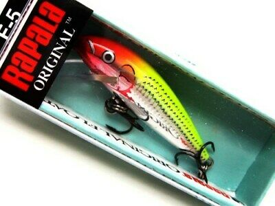 rapala f-5 minnow original floating f05 sfc silver fluorescent chartreuse