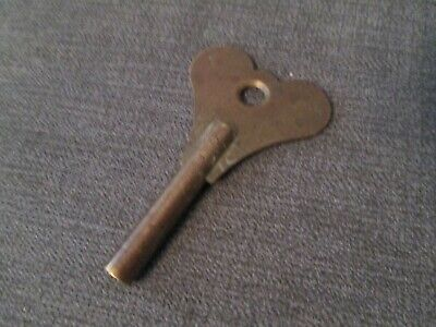 Antique Brass Fusee Bracket Clock Key No8 4.25Mm