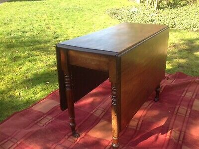 Antique Mahogany Drop Leaf Sutherland Table/gate Leg/breakfast.