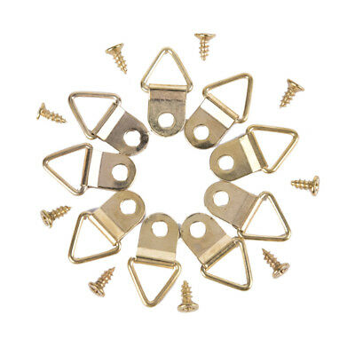 100pcs Lot Picture Frame Hanger With Screws Single Hole Triangle Metal D-Ring