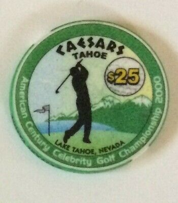 Caesars Tahoe $25 Celebrity Golf Championship Commemorative Chip - 2000