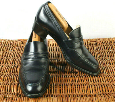26eccb6e4642 M S Marks   Spencer Womens Black Leather Penny Loafer Court Shoes ...