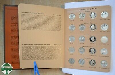 ATB NATIONAL PARK QUARTERS IN ALBUM WITH P,D,S CLAD & PROOF COINS - 2016 to 2018