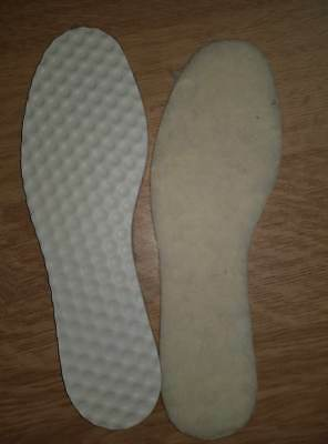 new 1 x Pair Pure Wool comfort sole 4 Wellie Boots Shoes Inner Soles without box